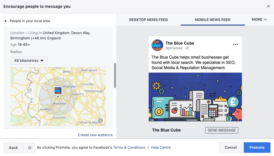 Facebook local business audience targeting