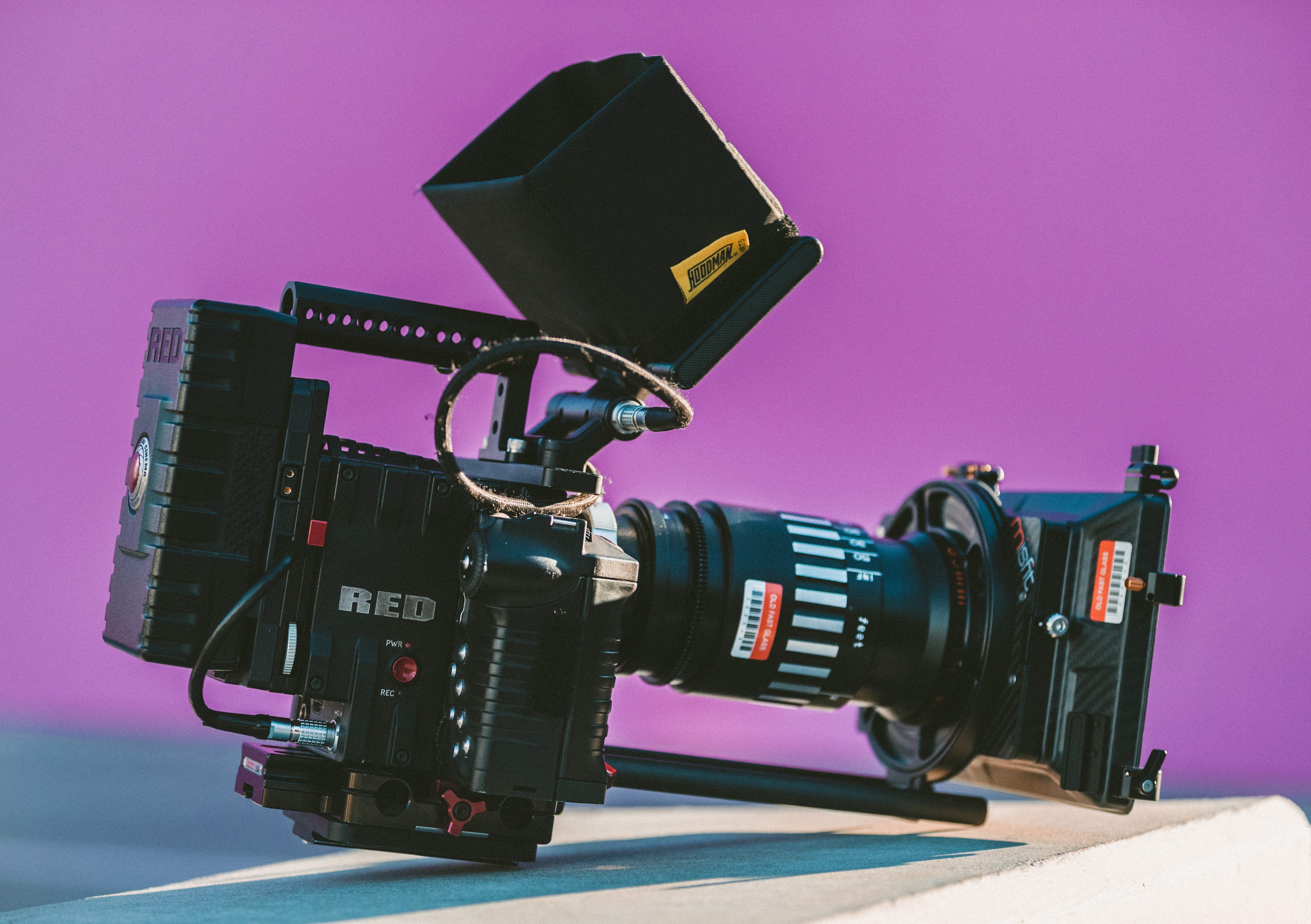 Video camera used for marketing video production